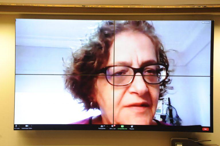 Audiência Pública - Inclusão pela OMS de Velhice na Classificação Internacional de Doenças. Coordenadora da Saúde da Pessoa Idosa do Ministério da Sáude, Maria Cristina Hoffmann