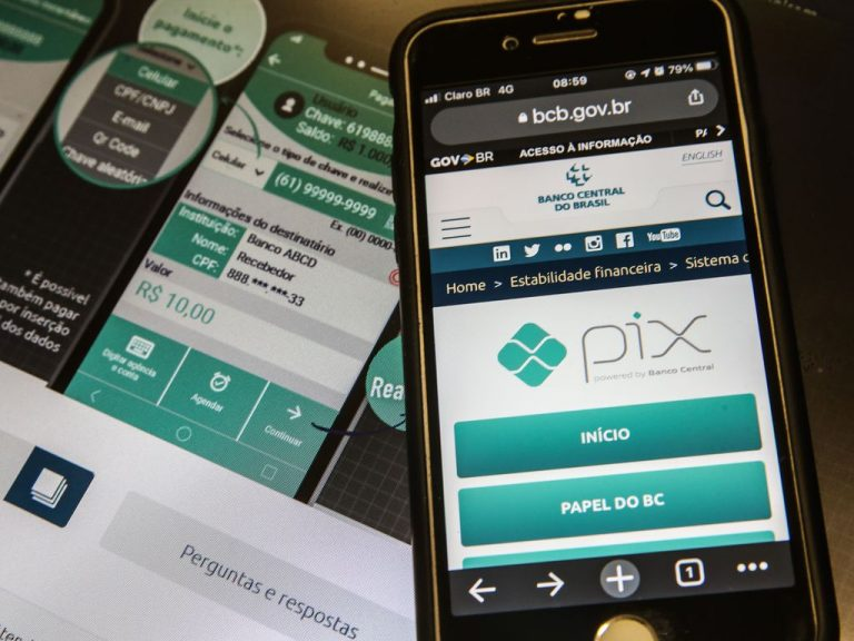 Economia - Dinheiro - Bancos - Pix - Pix é o pagamento instantâneo brasileiro. O meio de pagamento criado pelo Banco Central (BC) em que os recursos são transferidos entre contas em poucos segundos, a qualquer hora ou dia
