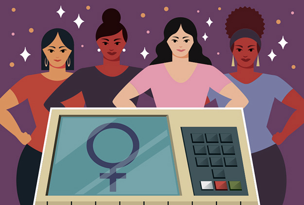 Ilustração mulheres candidatas