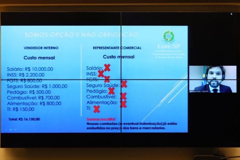 Audiência Pública - Os impactos do PL 5761/19 – Autônomos. Representante do CORE - SP, Paulo Porto Soares