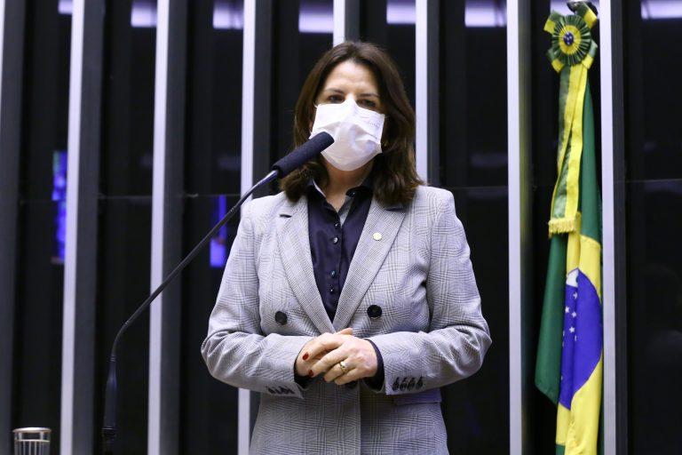 A deputada Carmen Zanotto fala no púlpito