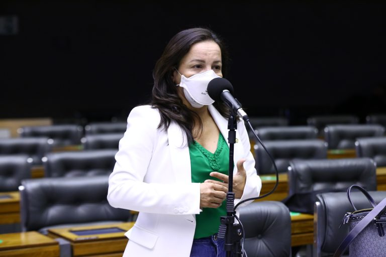 Deputada Professora Marcivania discursa no Plenário da Câmara