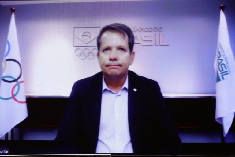 Audiência Pública - Recursos financeiros para desporto de surdos. Vice-Presidente do Comitê Olimpico do Brasil (COB), Marco Antônio La Porta