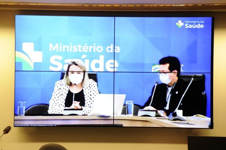 Audiência Pública - Aplicação de mais uma dose de vacina contra a COVID-19 no Brasil. Secretária Extraordinária de Enfrentamento à Covid-19 do Ministério da Saúde, Rosana Leite De Melo