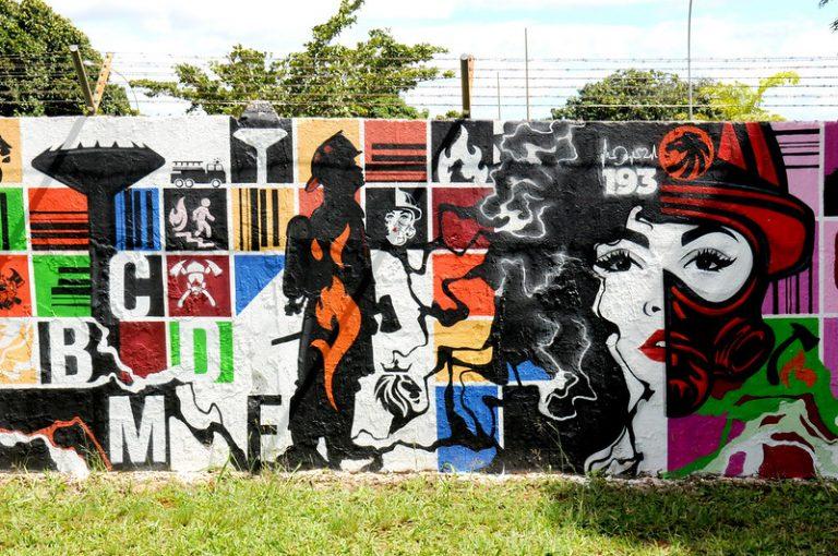 Cultura - popular - grafite - Na foto o grafiteiro Elom
