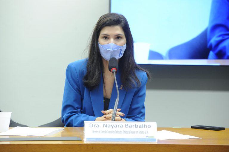 Audiência Pública - Inserção de perguntas sobre Autismo no Censo Demográfico Nacional 2020. Membro da Comissão Especial de Defesa dos Direitos da Pessoa com Autismo do PA, Nayara Barbalho