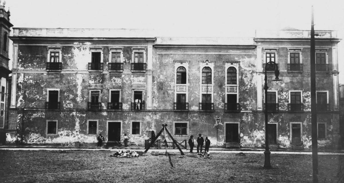 Prédio da Cadeia Velha, sede da Constituinte de 1823 e primeira sede da Câmara dos Deputados, de 1826 até 1914. Foto: Arquivo CD