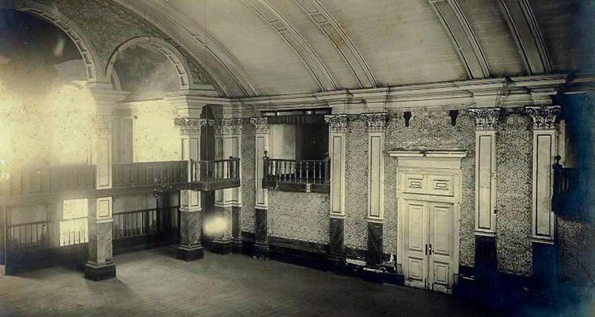 Parte interna do prédio da Cadeia Velha, primeira sede da Câmara dos Deputados. Foto: Arquivo CD