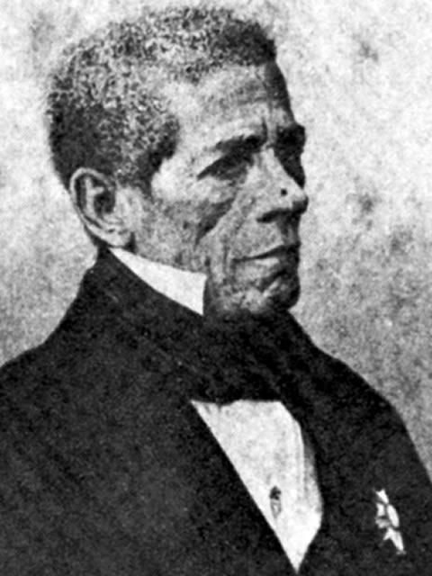 Primeiro deputado negro, Antonio Pereira Rebouças, filho de um alfaiate português e uma escrava liberta, eleito em 1828. Foto: reprodução
