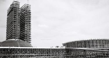 Construção do Palácio do Congresso Nacional. Foto: Arquivo Público do DF