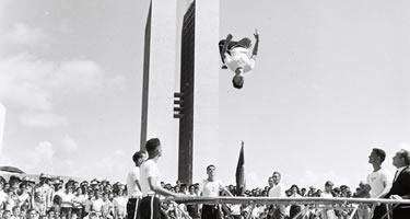 Festa de inauguração de Brasília, em 21-04-1960. Foto: Arquivo Público do DF
