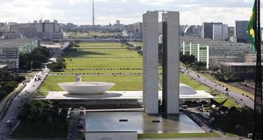 Palácio do Congresso Nacional, com a Esplanada dos Ministérios ao fundo. Foto: Brito Junior/Câmara dos Deputados