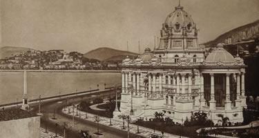 Palácio Monroe, no Rio. Sede da Câmara entre 1914 e 1922 e sede do Senado de 1925 a 1960. Foto Arquivo CD