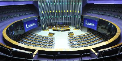 Foto do plenário da Câmara dos Deputados